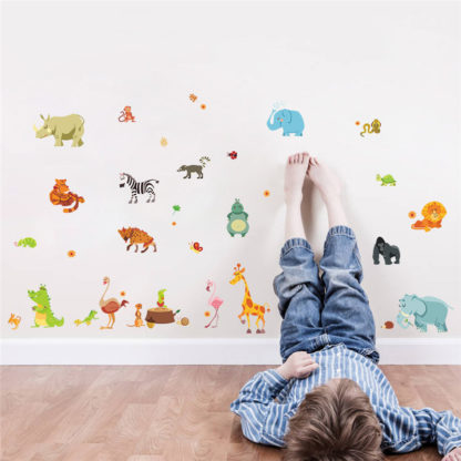 Jungle Animals Kids Wall Decals