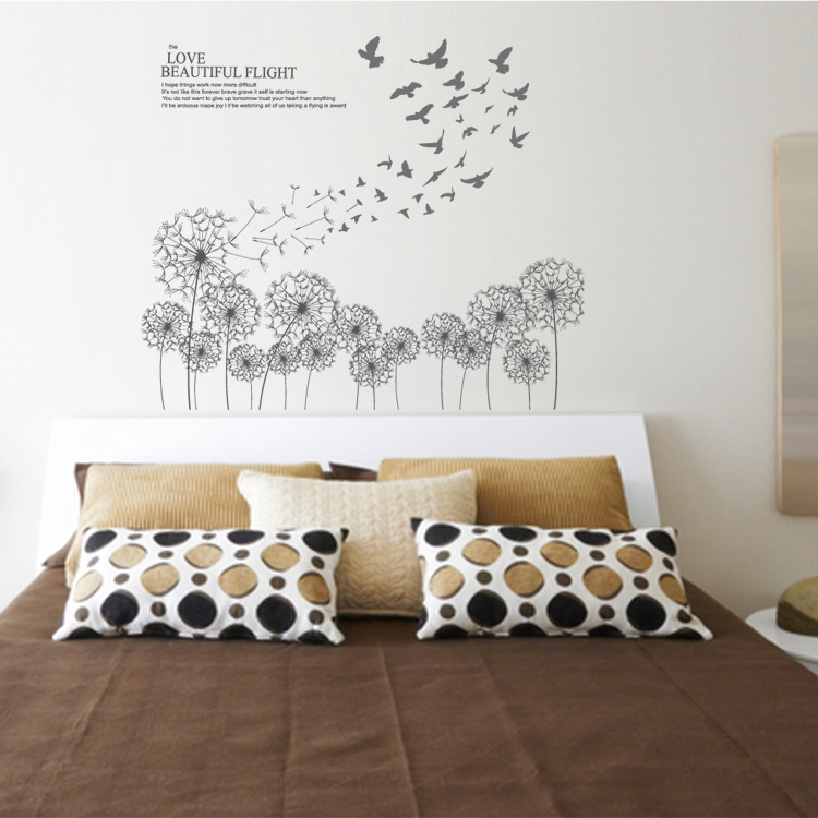 Pleasing Bed Room Dandelion Wall Decals Home Interior And Landscaping Ologienasavecom