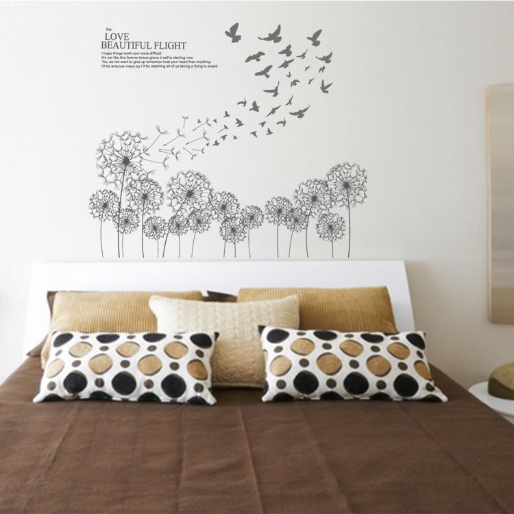 Bed Room Dandelion Wall Decals