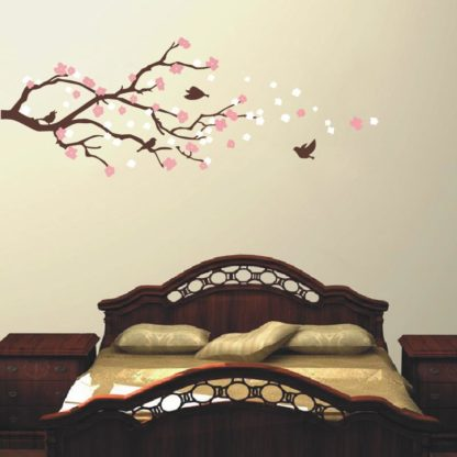 Cherry Blossom Tree with Bird Wall Decal