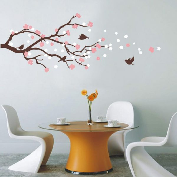 Cherry Blossom Tree with Bird Wall Mural