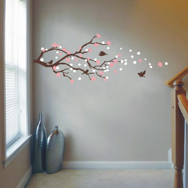 Cherry Blossom Tree with Bird Wall Sticker