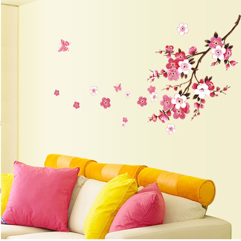 Cherry Blossom Wall Stickers  sc 1 st  American Wall Decals & Cherry Blossom Flower Wall Decals u2013 American Wall Decals