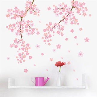 Cherry Blossom Pink Garden Tree Wall Decal