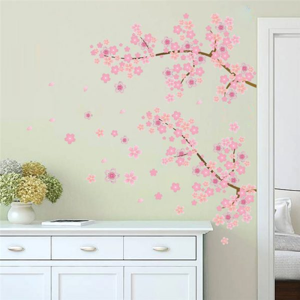 Cherry Blossom Pink Garden Tree Sticker