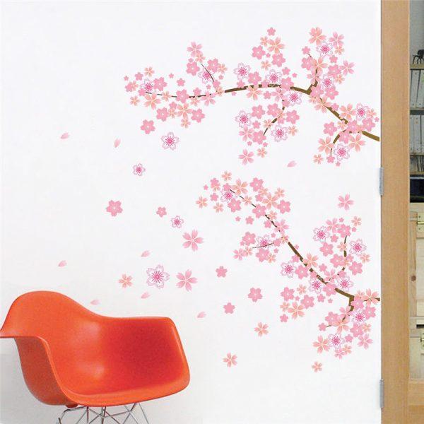 Cherry Blossom Pink Garden Tree Mural