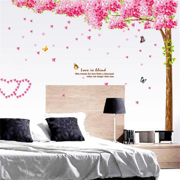 Pink Cherry Blossom Wall Decor