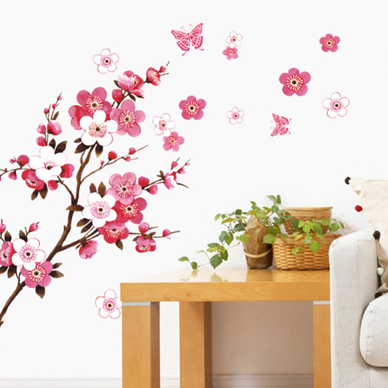 cherry blossom background wall stickers – american wall decals