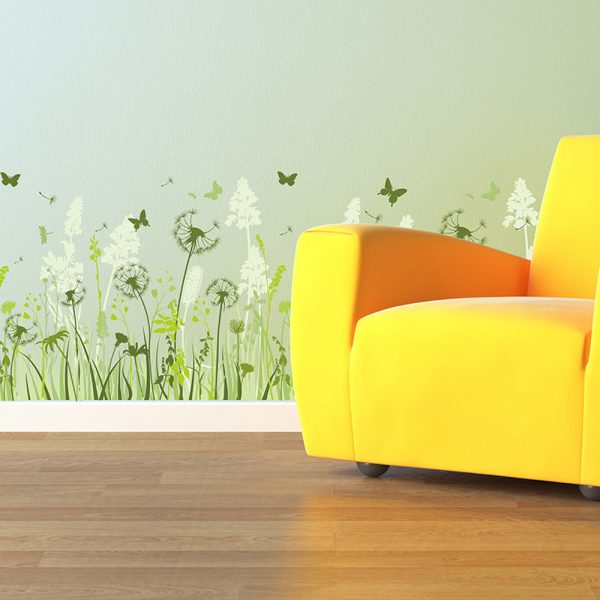 Colored Dandelion Wall Decals
