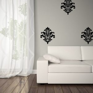 Large Damask Vinyl Decals