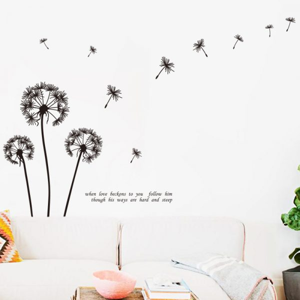 Dandelion Wall Decals with Quotes