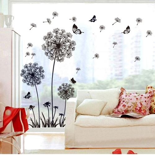 Butterfly Dandelion Wall Decals