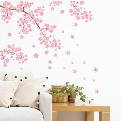 Cherry Blossom Dropping Flower Wall Decal