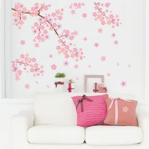 Cherry Blossom Dropping Flower Wall Sticker
