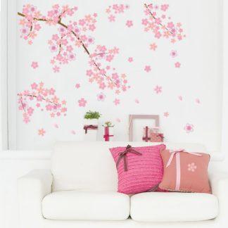 Cherry Blossom Dropping Flower Wall Sticker