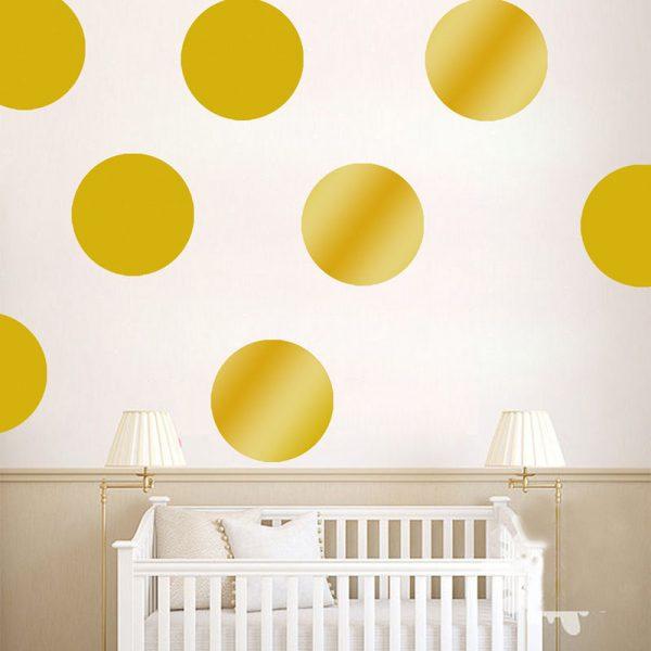 Gold Polka Dot Nursery Wall Decals