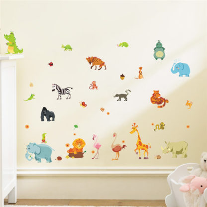 Nursery Wall Decals Jungle Animals
