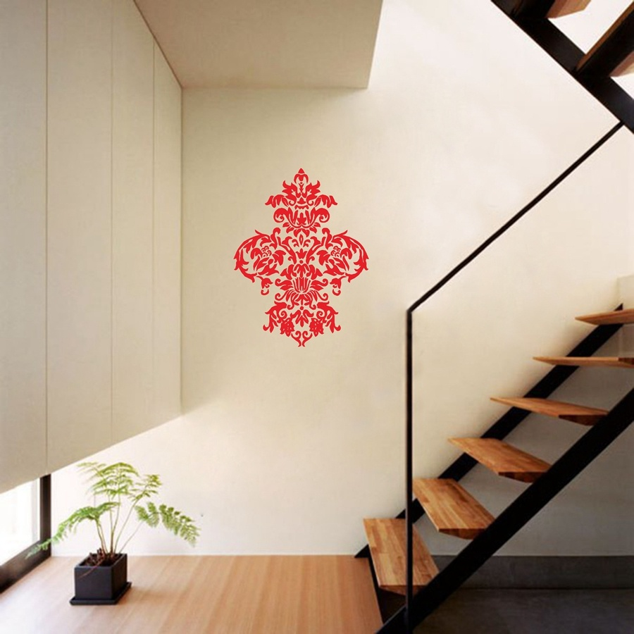 Large Baroque Damask Wall Decal American Wall Decals