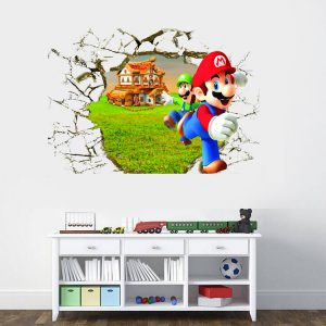 Super Mario Cracked 3D Wall Decal