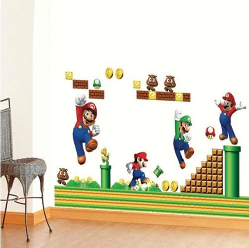 Mario Removable Wall Sticker Kids
