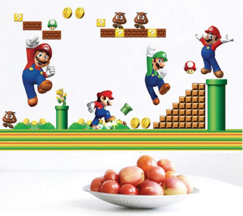 Mario Removable Wall Decal Kids