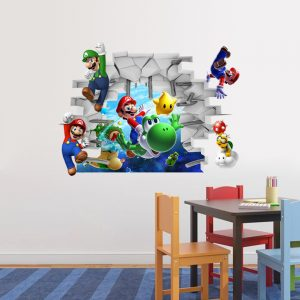 Mario Cartoon Wall Decal