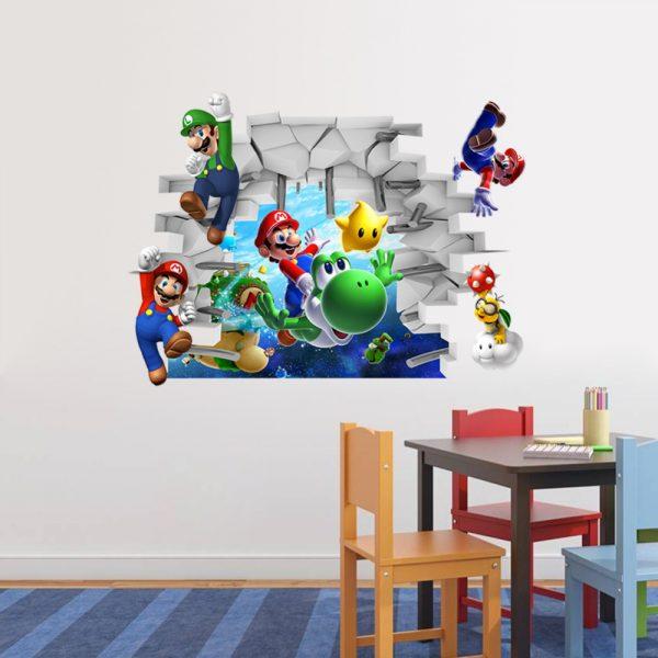 Mario Cartoon Wall Decal