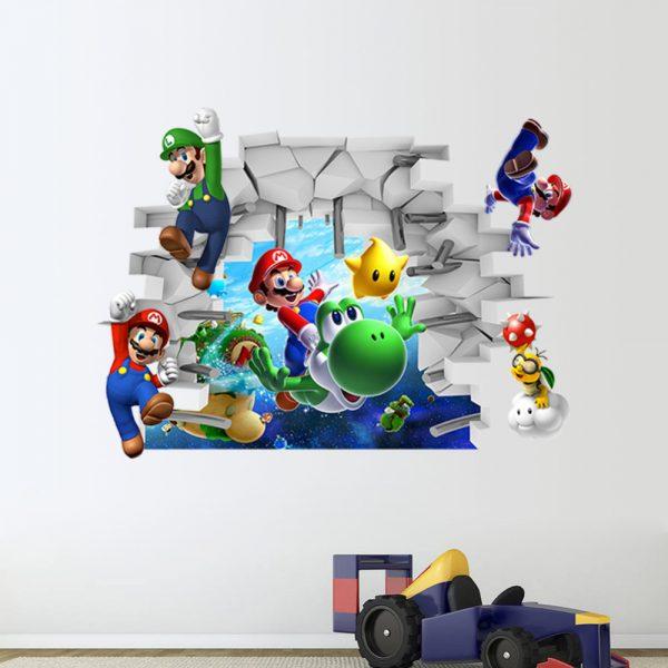 Mario Cartoon Wall Sticker