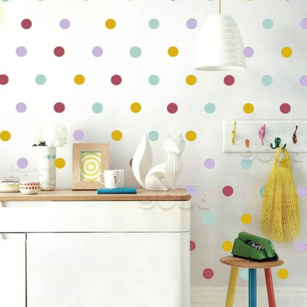 Mix Colour Polka Dots Wall Decals