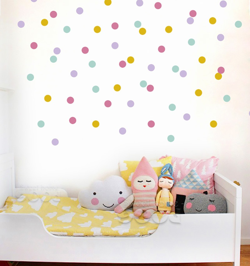 Mix Colour Polka Dot Wall Decals American Wall Decals