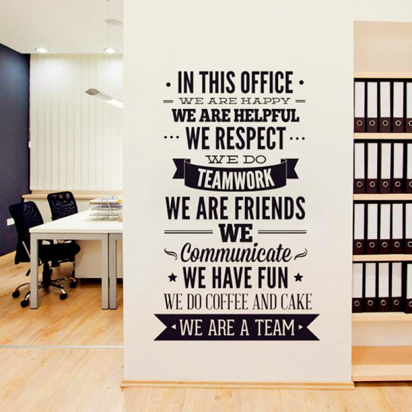 Office Inspiration Quote Wall Decal
