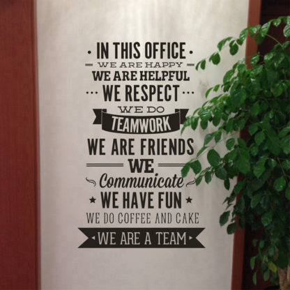 Office Inspiration Quote Wall Mural