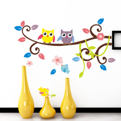 Owl on Tree Wall Stickers