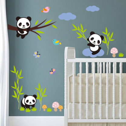 Panda Nursery Wall Decals for Kids