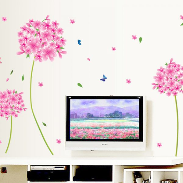 Pink Dandelion Wall Decal