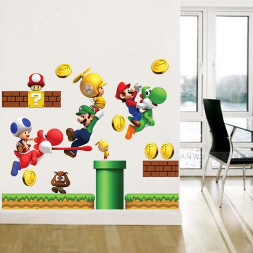 Mario Kids Room Wall Mural