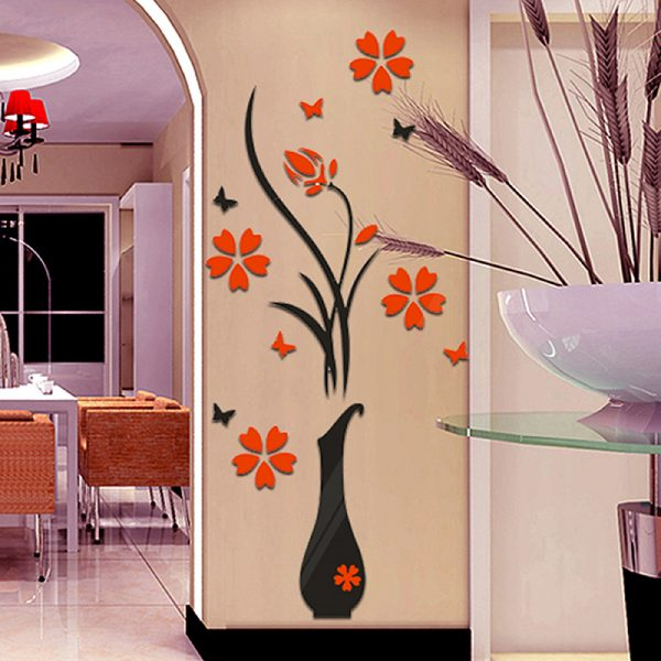 Flower Pot Wall Decals