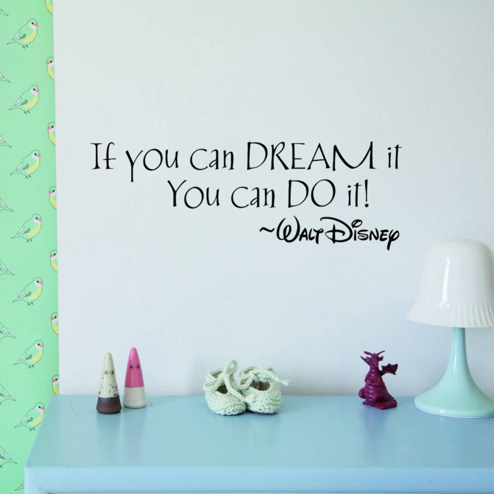 Walt Disney Inspirational Quote Wall Decal