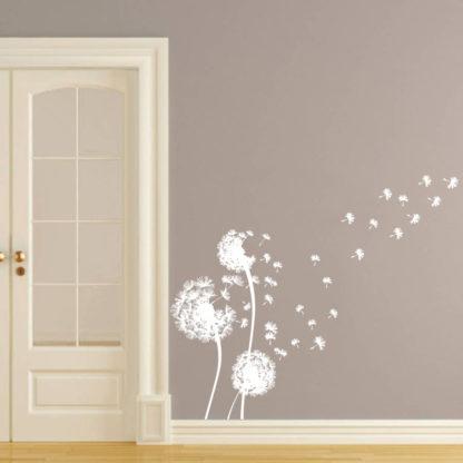 White Dandelion Wall Decal