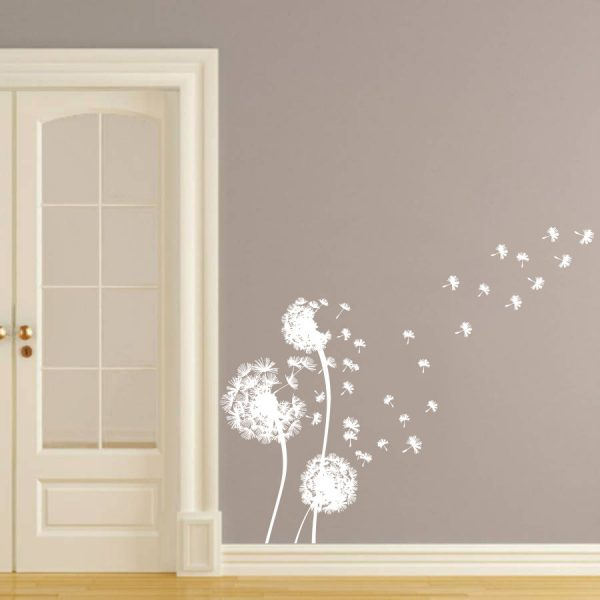 White Dandelion Wall Decal