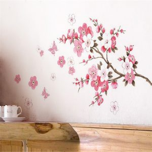 Plum Cherry Blossom Wall Decor