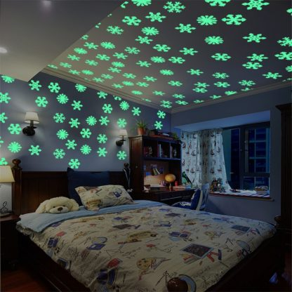 glow in dark snowflakes