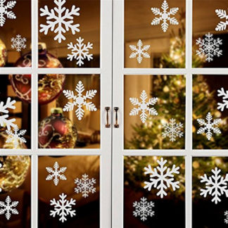snowflake wall decal for christmas